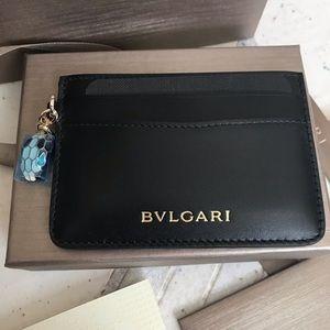 Bulgari card holder leather
